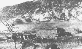 Historic photo of the town destroyed by the recent eruption.